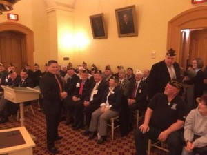 Veterans pack the house for Sponsor Testimony on HB325